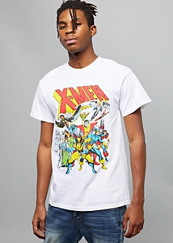White Marvel X Men Comic Graphic Tee
