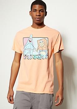 Light Orange SpongeBob Hood Rat Graphic Tee