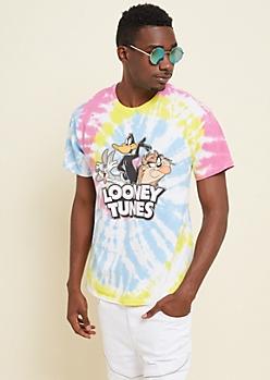 Tie Dye Looney Tunes Crew Tee