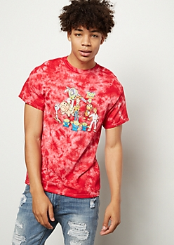 Red Tie Dye Toy Story 4 Graphic Tee