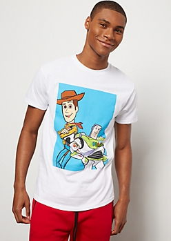 White Woody and Buzz Graphic Tee