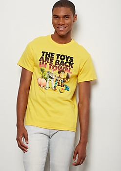 Yellow The Toys Are Back Toy Story 4 Graphic Tee