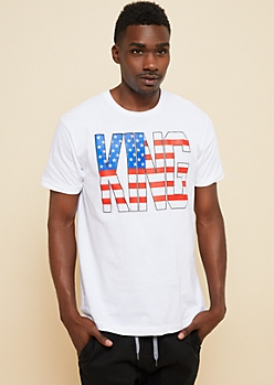 White Americana King Graphic Tee