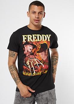 Black Freddy Never Sleep Again Graphic Tee