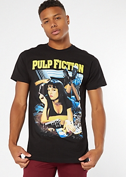 Black Pulp Fiction Graphic Tee