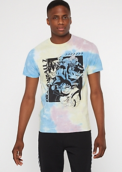 Pastel Tie Dye Dragon Ball Z Graphic Tee