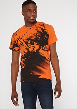 Orange Cowboy Bebop Print Tee