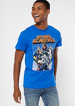 Blue My Hero Academia Graphic Tee