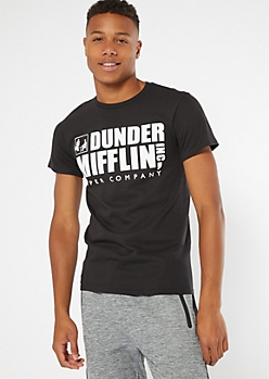 Black Dunder Mifflin Inc. Graphic Tee