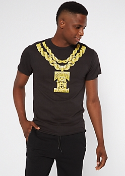 Black Death Row Records Chain Graphic Tee
