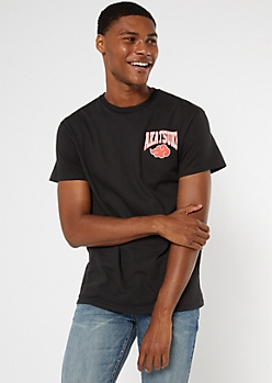 Black Naruto Akatsuki Graphic Tee