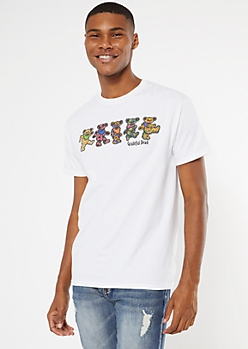 White Grateful Dead Graphic Tee