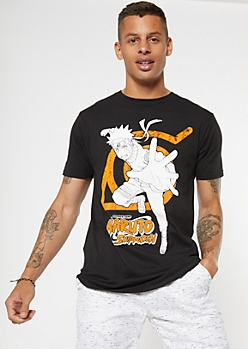 Black Naruto Shippuden Graphic Tee