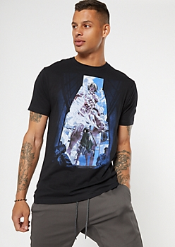 Black Attack On Titan Graphic Tee
