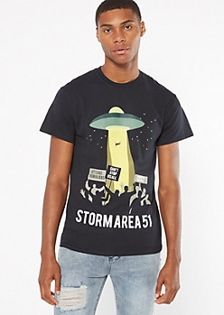 Black Storm Area 51 Graphic Tee