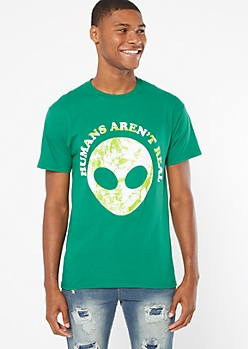Green Alien Humans Aren