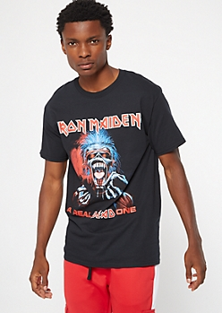 Black Iron Maiden Dead One Graphic Tee