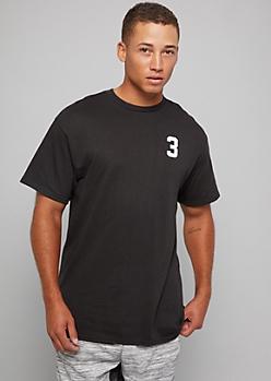 Black Short Sleeve Hustle Football Graphic Tee
