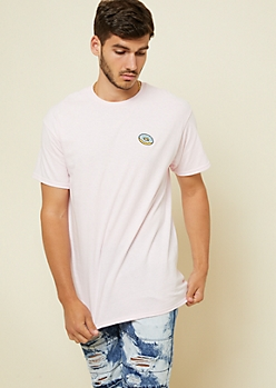 Pink Donut Embroidered Patch Tee