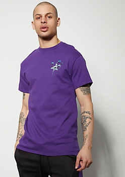 Purple 1992 Flower Graphic Tee