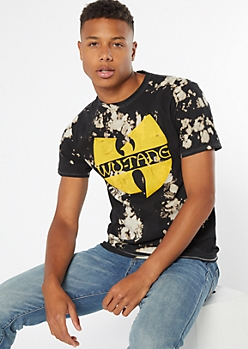 Black Bleached Wu Tang Graphic Tee