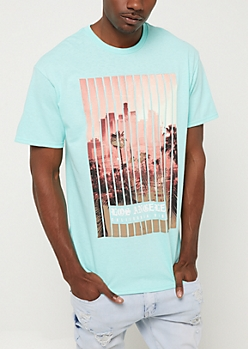 Mint Los Angeles Cityscape Vibes Tee