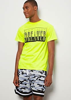 Neon Yellow Repeat Dreamer Graphic Tee