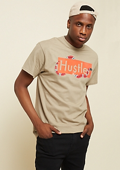 Taupe Hustle Snake Graphic Tee