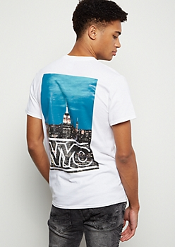 White Skyline NYC Graphic Tee