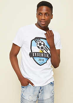 White Argentina Team World Cup Tee