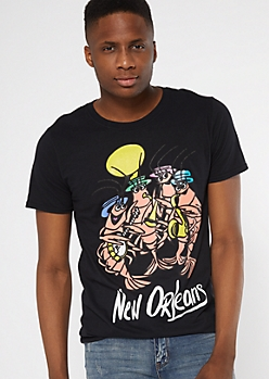 Black New Orleans Crawfish Graphic Tee