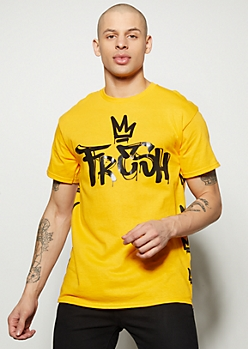Mustard Fresh Graffiti Crown Graphic Tee