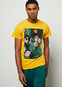 Mustard Tropical Self Made Graphic Tee