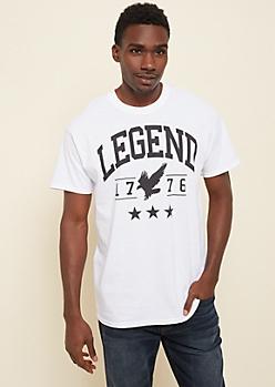 White 1776 Eagle Legend Tee