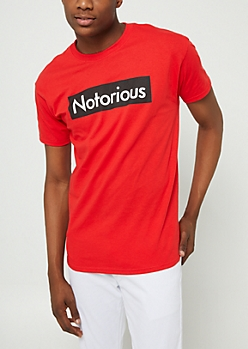 Red Notorious Box Tee