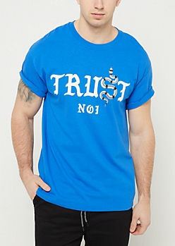 Blue Snake Trust No One Tee