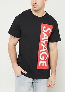Black Savage Vertical Box Tee