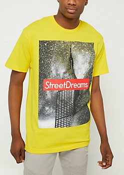 Yellow Street Dreams NYC Tee