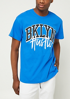 Blue Brooklyn Hustle Tee