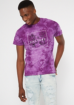 Purple Tie Dye Culture Graphic Tee