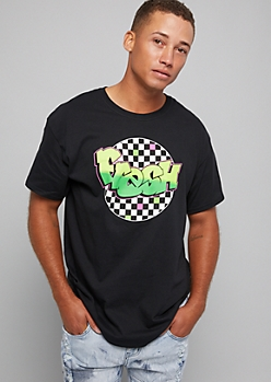 Black Checkerboard Fresh Graphic Tee