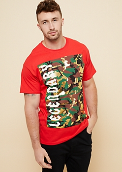 Red Gold Foil Camo Legendary Graphic Tee