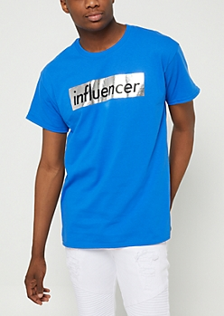 Blue Foil Influencer Tee