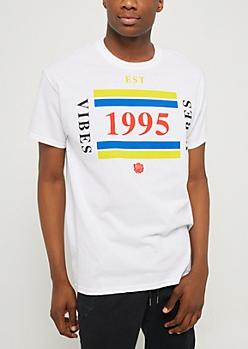 White 1995 Vibes Tee