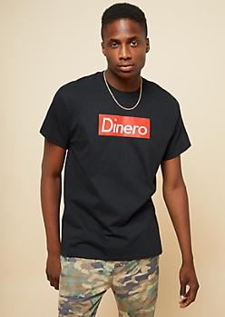 Black Boxed Dinero Crew Neck Tee