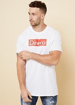 White Boxed Dinero Crew Neck Tee