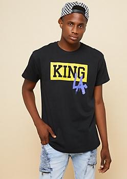 Black Boxed King LA Drip Tee