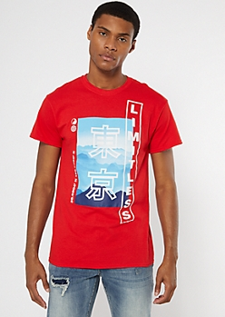 Red Limitless Kanji Graphic Tee