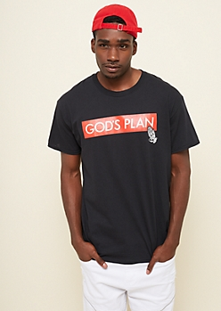 Black Boxed Plan Tee In Extended Sizes