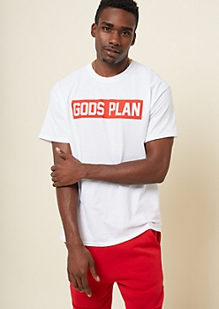 White Boxed Plan Tee In Extended Sizes